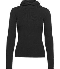 babe hoodie stickad tröja svart birgitte herskind