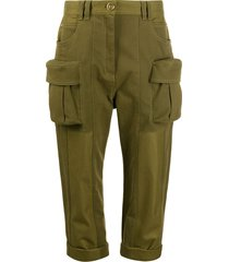 balmain cargo boyfriend-fit trousers - green