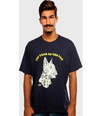 camiseta azul marinho the dog hardivision