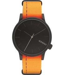 reloj analogo winston nato neon orange komono