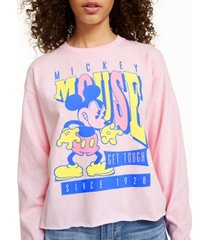 disney juniors' mickey mouse tough long-sleeved graphic t-shirt by mad engine