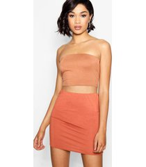 tall jersey bandeau top, kameel