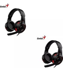 diadema gamer genius hs-g600v vibracion audifono microfono negro