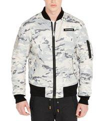 avirex men's snow camo ma-1 reversible bomber jacket