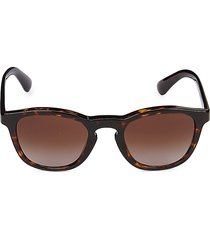 giorgio armani women's 50mm square sunglasses - dark havana