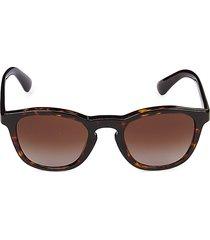 giorgio armani women's 50mm square sunglasses - dark havana