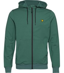 superwick full zip midlayer hoodie trui groen lyle & scott sport