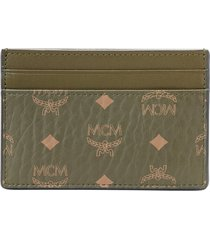 men's mcm mini visetos coated canvas card case -