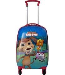 maleta 4 ruedas multicolor mi perro chocolo