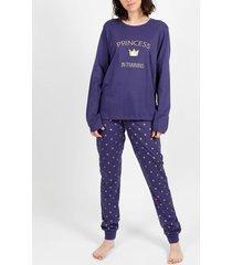 pyjama's / nachthemden admas homewear pyjamabroek princess navy