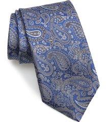 men's canali paisley silk tie, size regular - blue