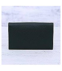 leather wallet, 'forest grandeur' (india)