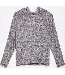 loft lou & grey marled jersey hoodie