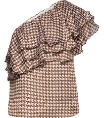 amelia blouse blus ärmlös brun birgitte herskind