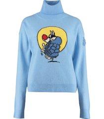moncler genius virgin wool and cachemire turtleneck pullover