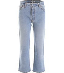 re/done high-waisted jeans