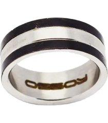 anel masculino em aço polido italiano