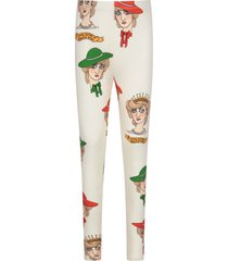 mini rodini ivory girl leggings with princess diana