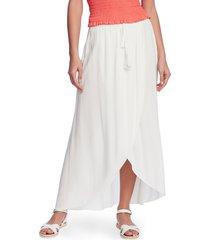 women's 1.state wrap front crinkle gauze maxi skirt, size x-large - white