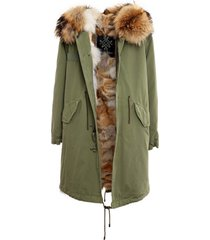 jazzy parka with natural coyote fur for woman