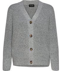 5210 - alp cardigan gebreide trui cardigan grijs sand