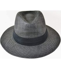 chapéu estilo chapelaira vintage panamá aba média preto