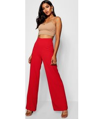 wide leg broek, red