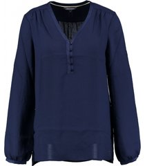tommy hilfiger blauwe blouse polyester