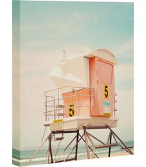 deny designs beach tower wall art, size 24x30 - pink