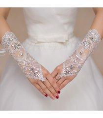 abito da sposa lungo con pizzo chiaro e diamante guanti abito da sposa jacquard guanti