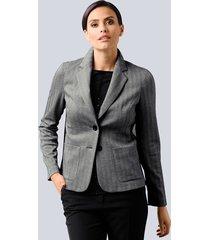 blazer alba moda grijs::zwart