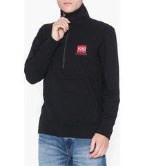 calvin klein underwear half zip sweatshirt tröjor black