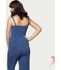 cake lingerie pyjamabroek blue berry torte zwangerschap