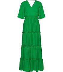 slfraya 2/4 maxi dress b maxi dress galajurk groen selected femme