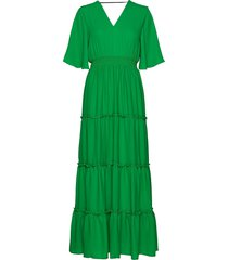 slfraya 2/4 maxi dress b maxi dress galajurk groen selected femme