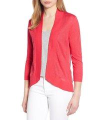 women's tommy bahama lea linen cardigan, size x-small - pink