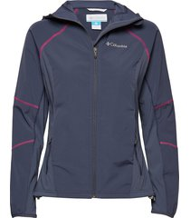 sweet as™ softshell hoodie outerwear sport jackets blauw columbia
