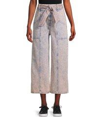 joie women's casen cropped wide-leg jeans - melon - size 30 (8-10)