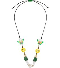 salute eva charms rope necklace - green