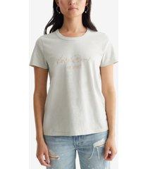 lucky brand cotton lucky 1990 classic crewneck t-shirt