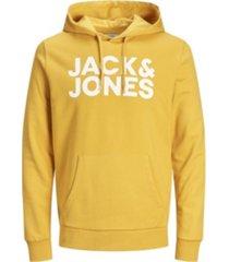 jack & jones men's logo long sleeve pullover hoodie