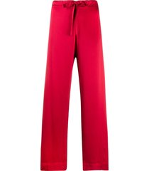 gilda & pearl sophia silk pajama trousers - red
