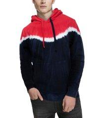 men's color block tie dye pullover hoodie