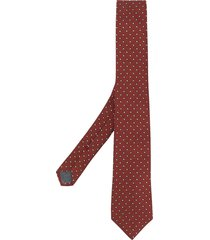 brunello cucinelli polka-dot pointed tie - orange