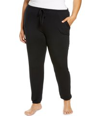 plus size women's nordstrom moonlight dream pajama joggers, size 1x - black