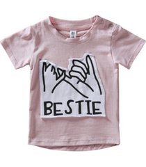 earth baby outfitters toddler boys and girls organic cotton bestie short sleeve patch t-shirts