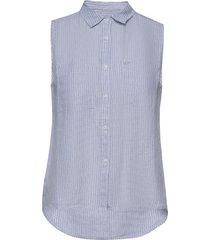 aubrey shirt blus ärmlös blå superdry