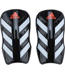 caneleira de futebol adidas everlesto - adulto - preto/branco