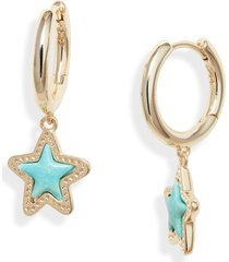 women's kendra scott jae star huggie hoop earrings