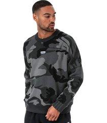 mens r.y.v camoflage crew sweatshirt